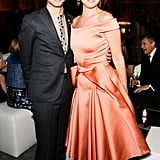 Zac Posen and Juliette Lewis (wearing Zac Posen) at the Lifetime Achievement Award Celebration in New York. Photo: Benjamin LozovskyBFAnyc.com