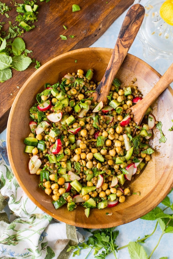 Rosted Herb and Lentil Salad