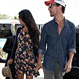 Matthew McConaughey and Camila Alves were hand in hand at LAX.