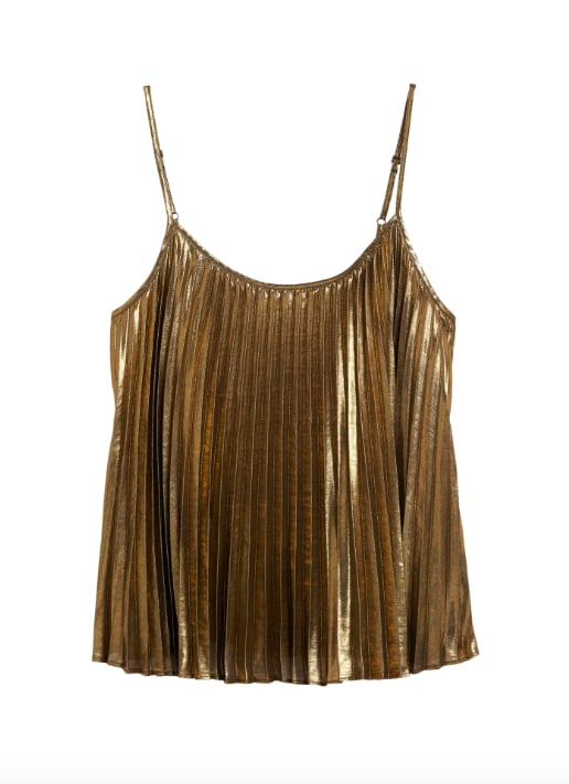 Metallic Pleated Camisole