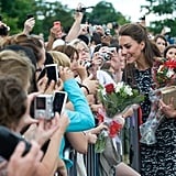 Kate Middleton met the crowds in Canada.