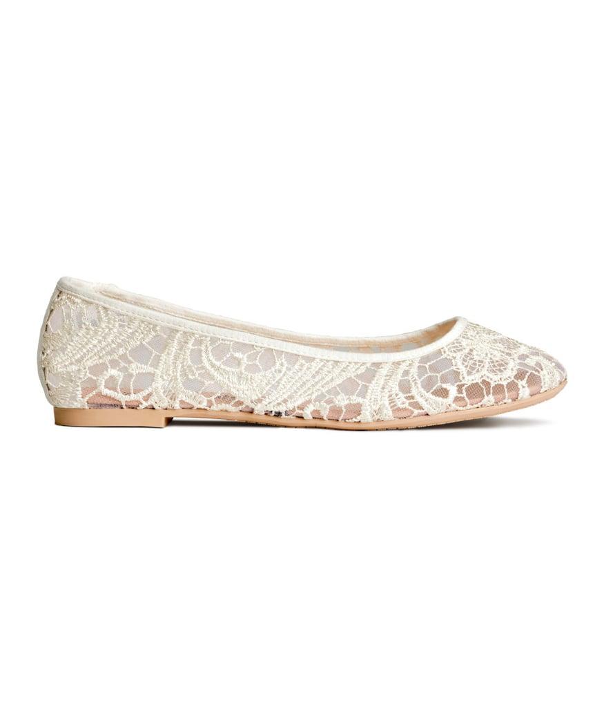 H&M Lace Ballet Flats