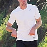 Alex Skarsgard Gets Hot and Sweaty on a Morning Jog