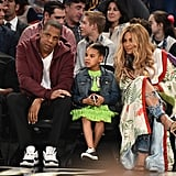 Beyoncé Is the Only Person Who Can Get Away With Wearing a $22K Gucci Kimono to a Basketball Game