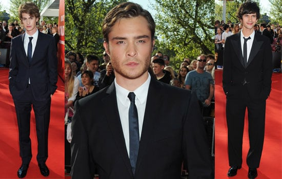 Photos Of Men On The Red Carpet At The 2009 BAFTA TV Awards Including Ed Westwick, Ant and Dec, Ben Whishaw, Andrew Garfield