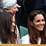Kate Middleton and her sister Pippa enjoyed a game at Wimbledon.