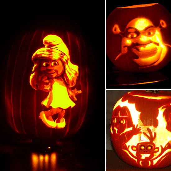 Jack o lanterns with cartoon characters popsugar moms