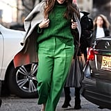 How to Wear a Monochrome Outfit in Green