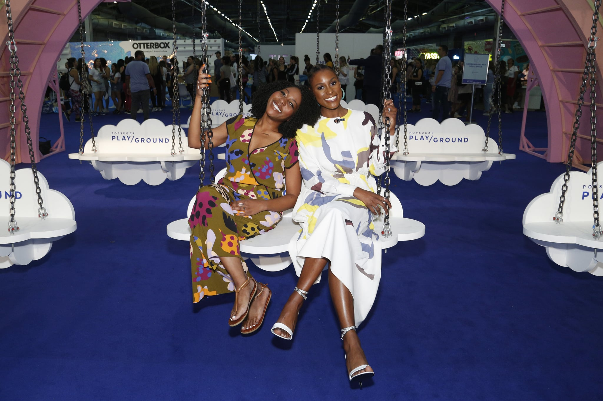 NEW YORK, NEW YORK - JUNE 23: (L-R) Amy Aniobi and Issa Rae attend the POPSUGAR Play/Ground at Pier 94 on June 23, 2019 in New York City. (Photo by Lars Niki/Getty Images for POPSUGAR and Reed Exhibitions )