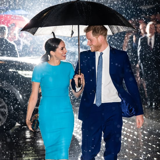 Meghan Markle's Blue Victoria Beckham Dress 2020