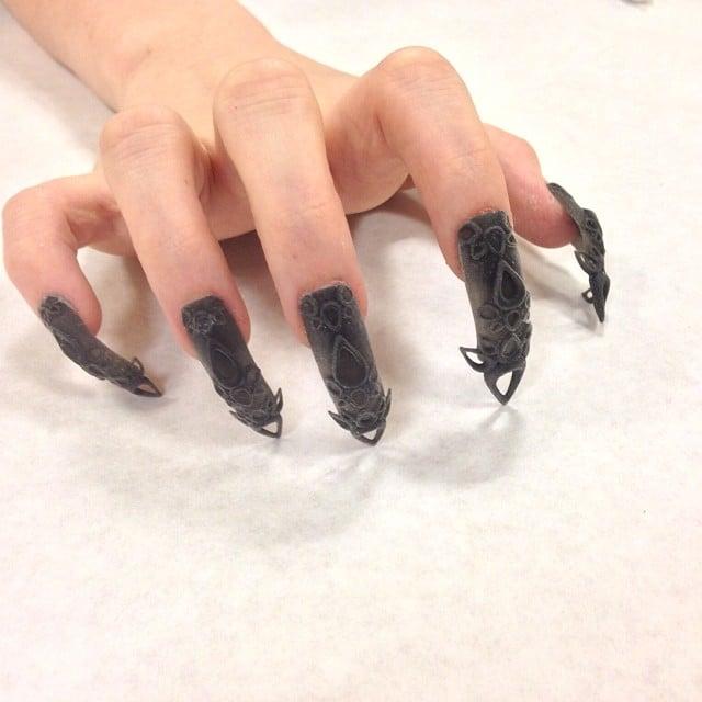 """""""Black castle"""" nails. Source: Instagram user thelasergirls"""