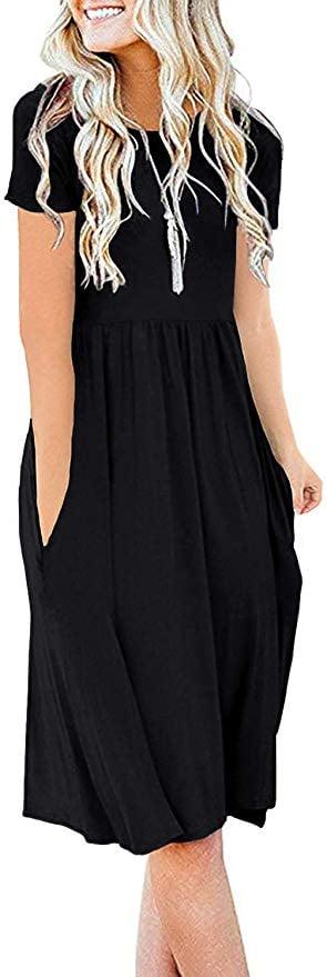 DB Moon Women Summer Casual Short-Sleeved Dress