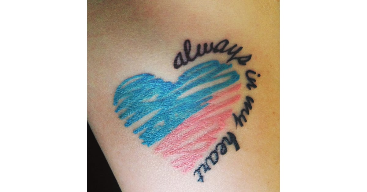 Always In My Heart Miscarriage Tattoo Ideas Popsugar Family Photo 16