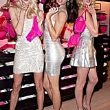 Lindsay Ellingson, Adriana Lima, and Doutzen Kroes had fun for a Victoria's Secret event.