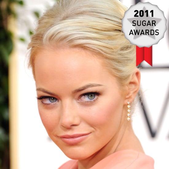 Emma Stone's Golden Globes Makeup Voted Best Makeup of 2011