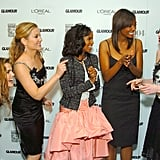 Keri Russell, Jessica Capshaw, Aisha Tyler, and Anne Hathaway All Love Her
