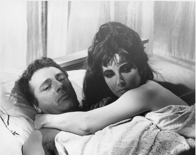 Cleopatra with Richard Burton.