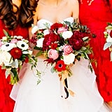 Let bouquets echo the colour of your bridesmaids' dresses.