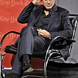 """George Clooney attended a NYT """"TimesTalk."""""""