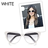 Why we love them: This time around white shades are a lot more chic than they were in the '80s. Rachel Bilson's Chanel frames are a perfect example of why they work and why we adore their fresh feel. How to wear them: These shades pull double duty; depending on the frames they can go easily from more casual to more polished ensembles. Avoid really bulky frames if your face is on the smaller side, but opt for thicker styles if you have a rounder face shape. Selima Optique Catherine Cat-Eye Frame Acetate Sunglasses ($385)