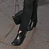Princess Eugenie Black Booties
