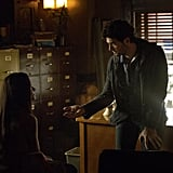 Professor Shane (David Alpay) gives Bonnie some suspect advice, I'm sure.