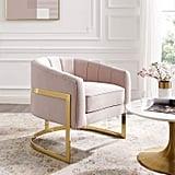 Modway Esteem Tufted Velvet Accent Lounge Chair