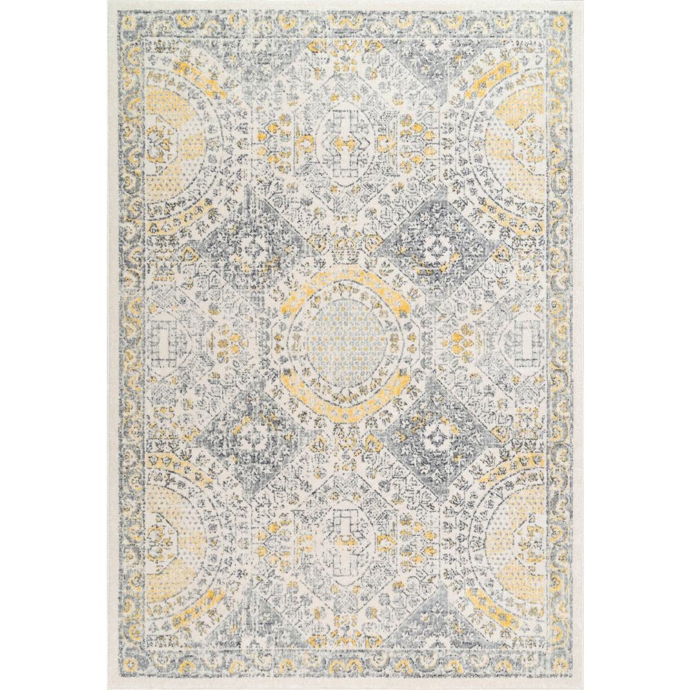 nuLOOM Minta Modern Persian Gold 5 ft. x 8 ft. Area Rug