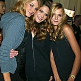 Angela Lindvall, Frankie Rayder, and Carmen Kass posed backstage together in 2003.