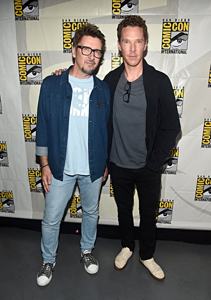 Pictured: Scott Derrickson and Benedict Cumberbatch at San Diego Comic-Con.