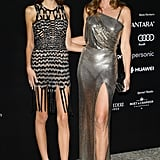 Cindy Crawford and Kaia Gerber Wearing Skin-Baring Evening Gowns in 2017