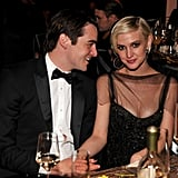 Vincent Piazza and Ashlee Simpson hung inside the event.