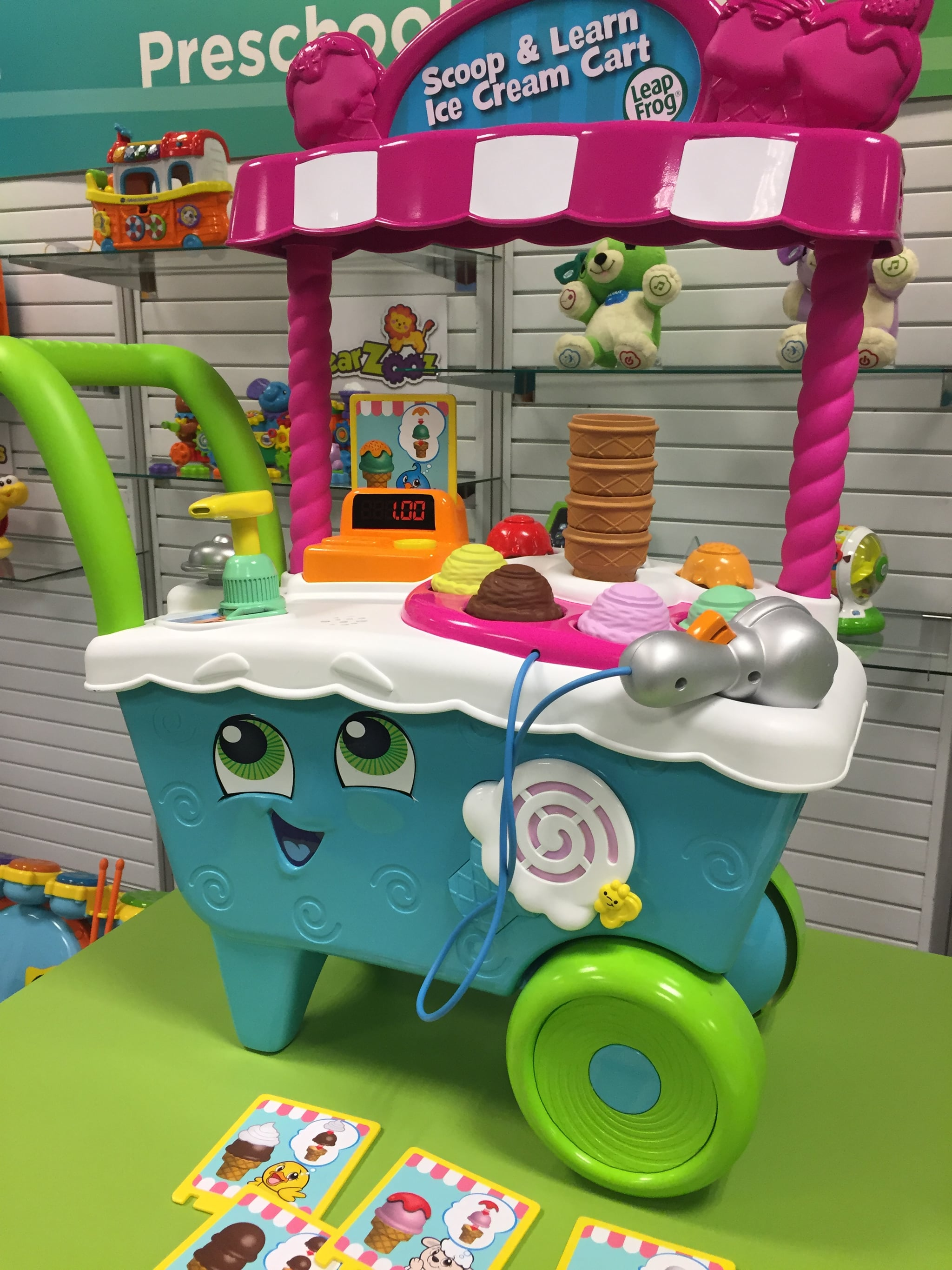 Globo WToy 8 Pieces Ice Cream Playset with Scoops//Spoon
