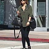 Lauren Conrad carried two black bags with her in LA.