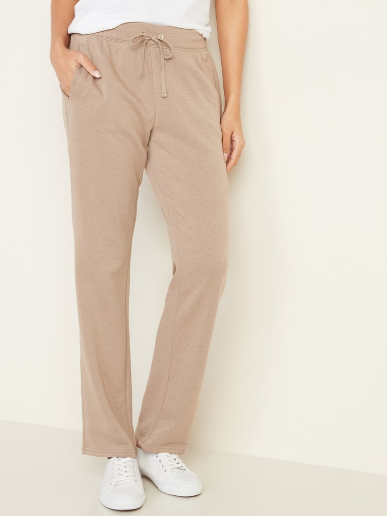 French Terry Straight-Leg Sweatpants
