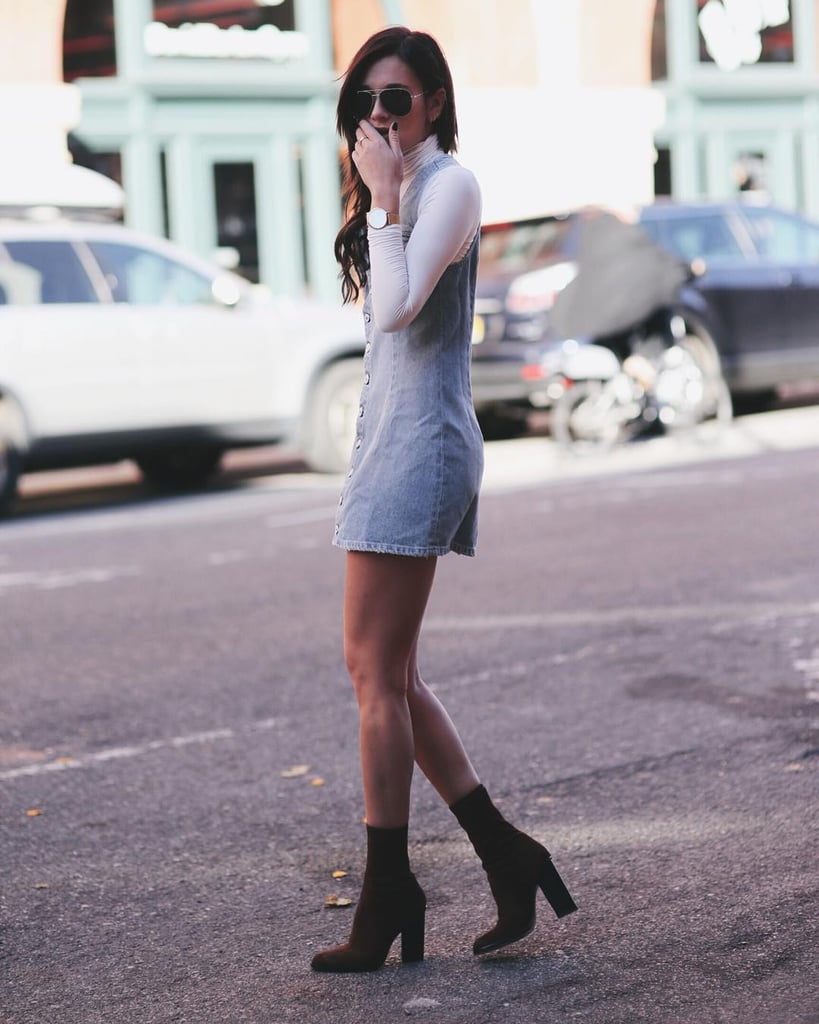 Layer a Turtleneck Under Your Dress