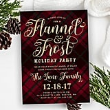 Flannel & Frost Holiday Party Invitation