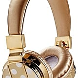 Pottery Barn Teen Bluetooth Headphones, White/Gold Dot