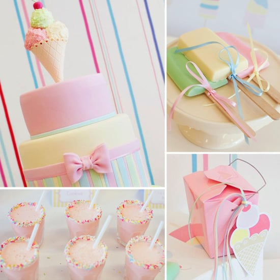 12 Awesome Décor Ideas For A Headstart On The Steampunk: Girls Ice Cream Birthday Party