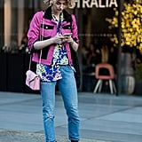 A dash of pink, a hint of print, and boots to ground the whole thing.