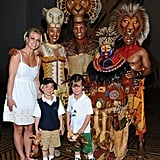 Britney Spears Brings Her Sons to See The Lion King in Vegas!