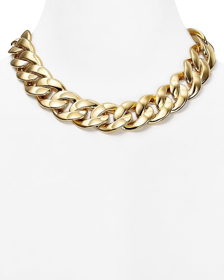 "Michael Kors Curb Chain Link Toggle Necklace, 18"" ($175)"
