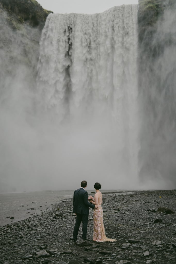 Maja and Patrick fell in love with Iceland for its romantic, melancholy scenery. See the wedding here!