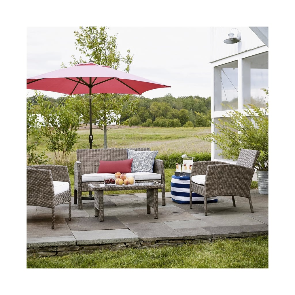 Fulham 4-Piece All Weather Wicker Patio Conversation Set