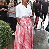 At the Tibi show during New York Fashion Week in September of 2016.