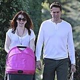Alyson Hannigan and her husband, Alexis Denisof, took their daughter Keeva for a stroll in LA.