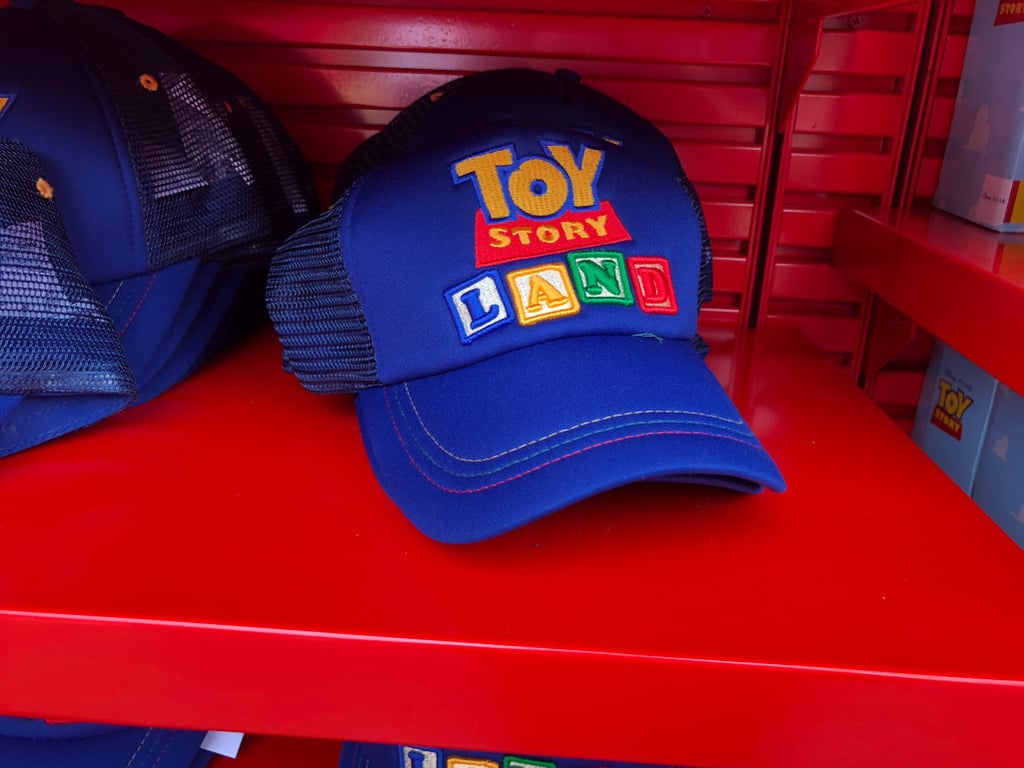Toy Story Land-themed trucker hat.