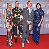 Ellie Goulding, Grace Carter, Dermot Kennedy, and Hailee Steinfeld at the 2020 BRIT Awards in London