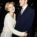 Drew also dated David Arquette for a few months in 1991 —just eight years before they played siblings in Never Been Kissed.