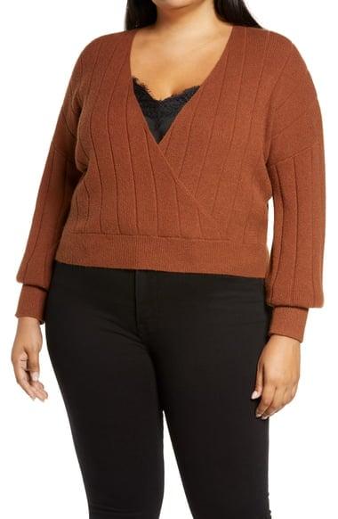 BP.Rib Wrap Sweater